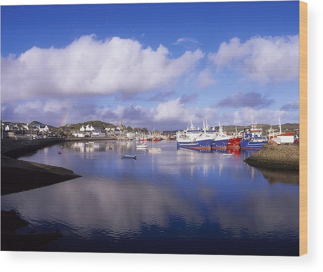 Boat Wood Print featuring the photograph Killybegs, Co Donegal, Ireland by The Irish Image Collection