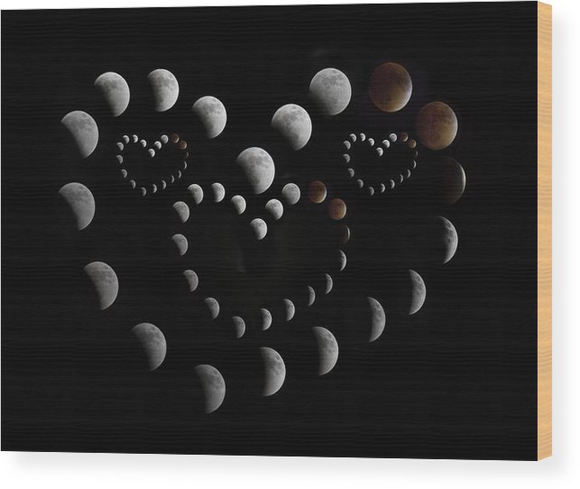 Lunar Wood Print featuring the photograph Love You To The Moon And Back by Betsy Knapp