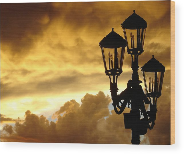 Night Sky Wood Print featuring the photograph Mirage Night Sky by Michael Simeone