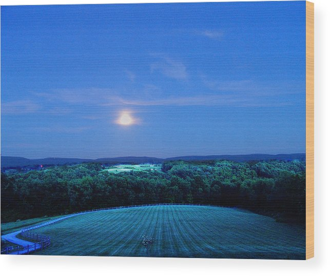 Night Wood Print featuring the photograph Moonlight by John Toxey