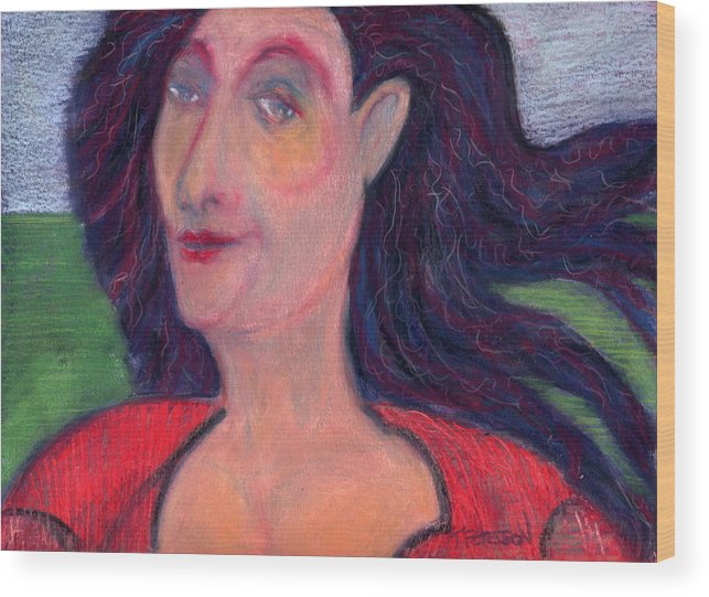 Painting Wood Print featuring the painting North Country Woman by Todd Peterson
