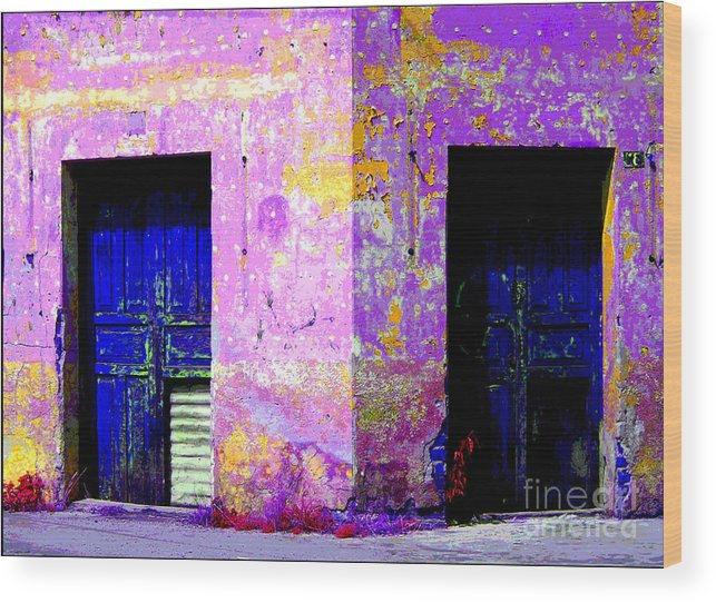 Darian Day Wood Print featuring the photograph Old Door 3 By Darian Day by Mexicolors Art Photography