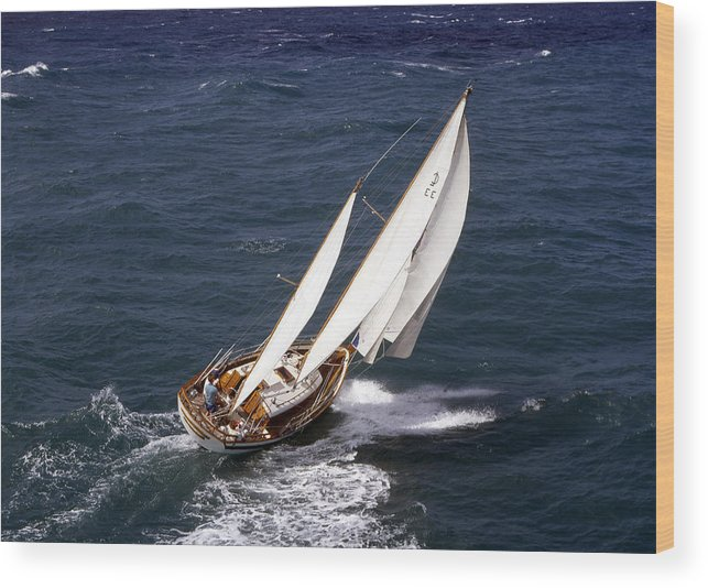 Sailing Wood Print featuring the photograph One Perfect Day by John Rowe