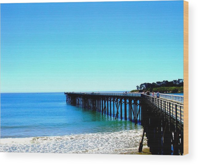Pier Wood Print featuring the photograph Peaceful Pier by Melissa KarVal