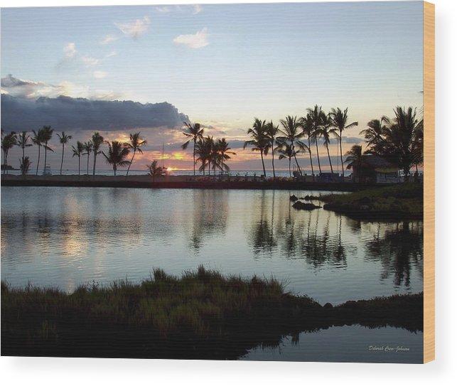 Sunset Wood Print featuring the photograph Peaceful Sunset by Deborah Crew-Johnson
