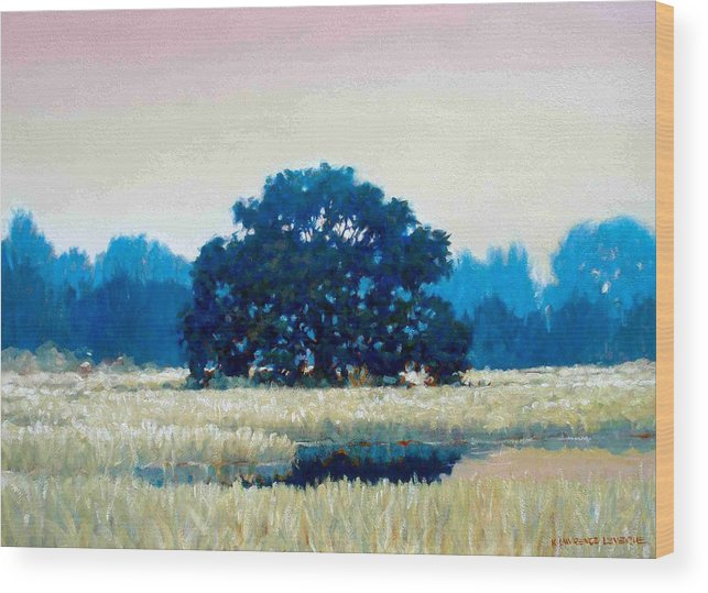 Oak Wood Print featuring the painting Peggys Oak by Kevin Lawrence Leveque