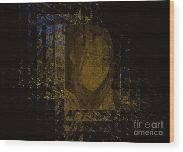Portrait Wood Print featuring the mixed media Portrait Reflection From Fresnel Prisms by Viktor Savchenko