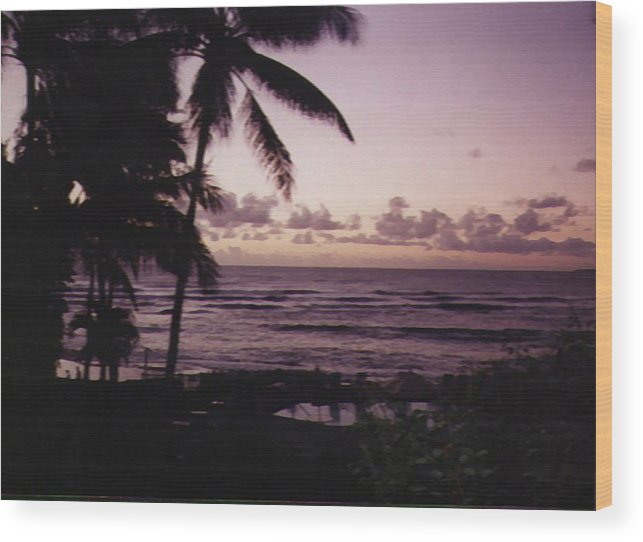 Hawaii Wood Print featuring the photograph Rise by Adam Wells