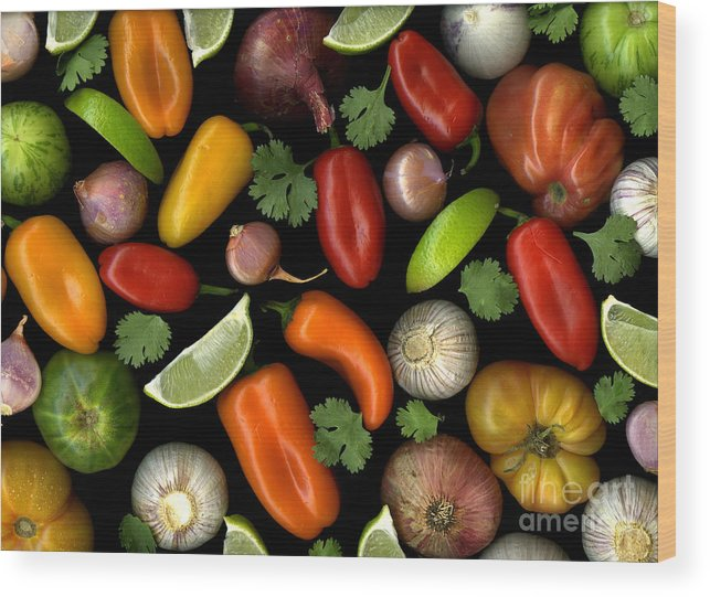 Culinary Wood Print featuring the photograph Salsa by Christian Slanec