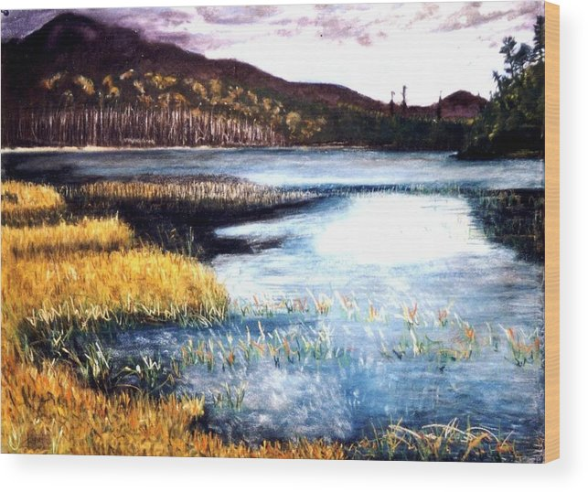 Landscape Wood Print featuring the painting San Gabriel II by Jack Spath