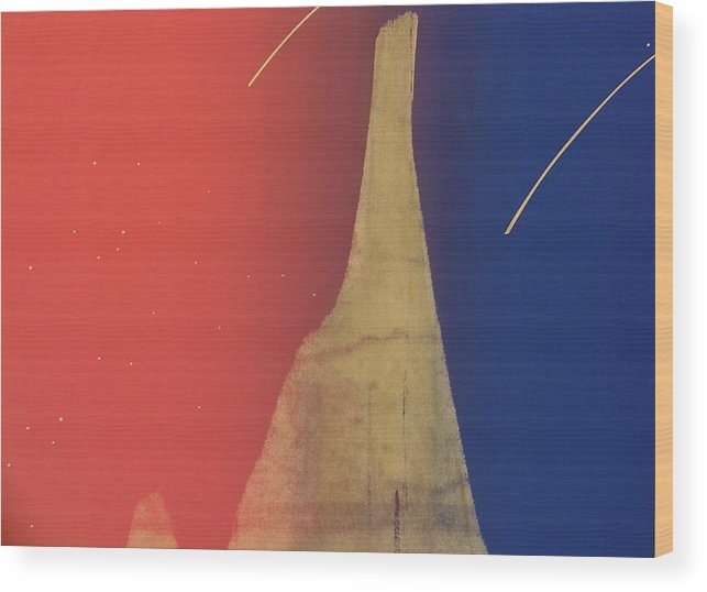 Shooting Stars Wood Print featuring the painting Shooting Star by Gary Kaemmer