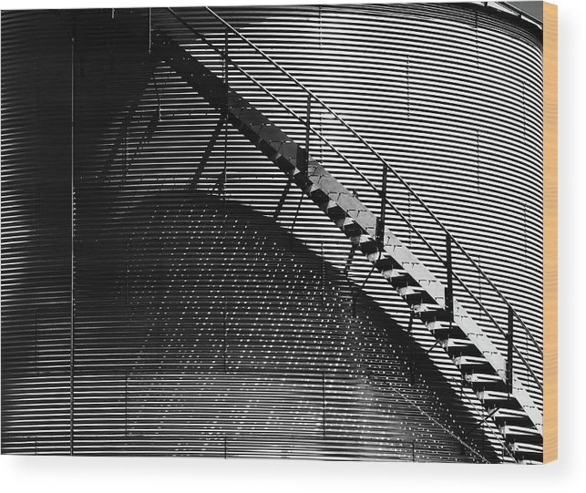 Stairs Wood Print featuring the photograph Stairway Shadow by Christopher McKenzie