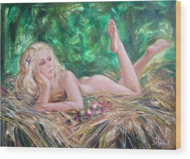 Ignatenko Wood Print featuring the painting The Pretty Summer by Sergey Ignatenko