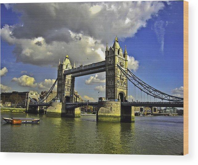 Bridge Wood Print featuring the photograph Tower Bridge I by Madeline Ellis