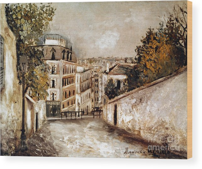 20th Century Wood Print featuring the photograph Utrillo: Montmartre, 20th C by Granger