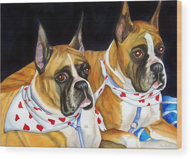 Animals Wood Print featuring the painting Waiting To Show by Gail Zavala