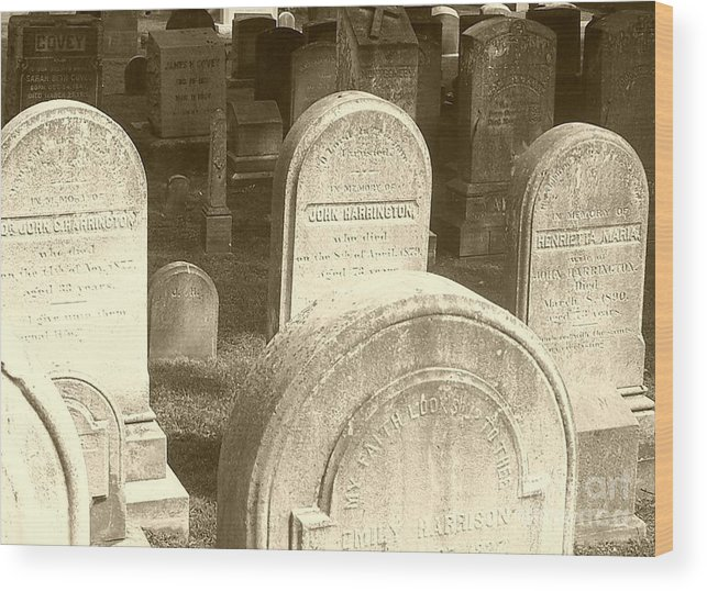 Cemetery Wood Print featuring the photograph Welcome by Debbi Granruth