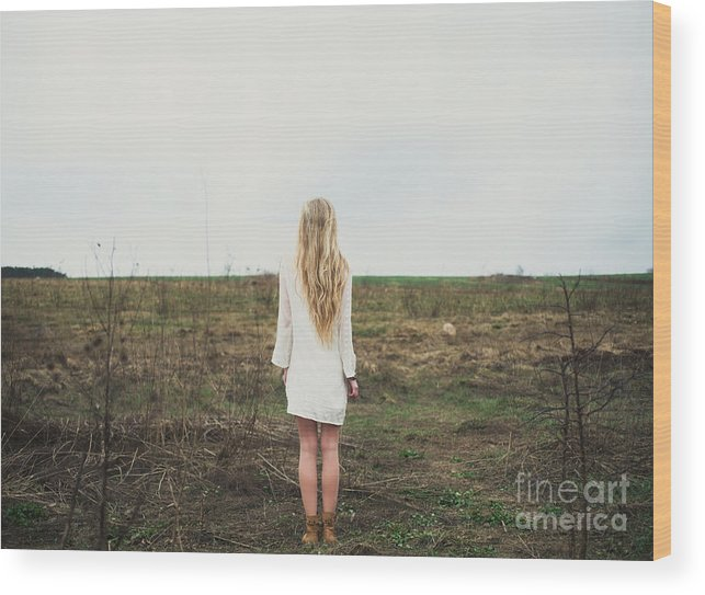 Magic Wood Print featuring the photograph Beautiful Young Girl In The Spring by Aleshyn andrei