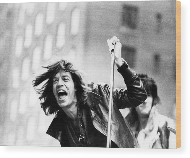 People Wood Print featuring the photograph Rolling Stones On Fifth Avenue by Fred W. McDarrah