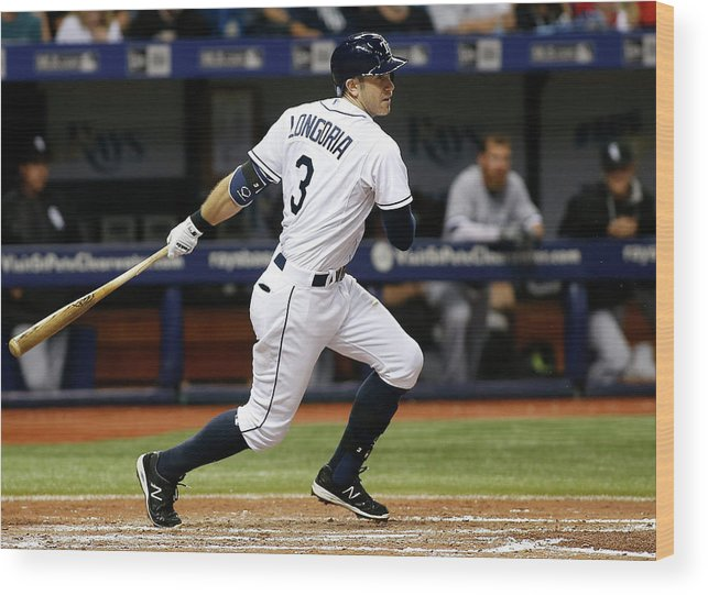 People Wood Print featuring the photograph Evan Longoria by Brian Blanco