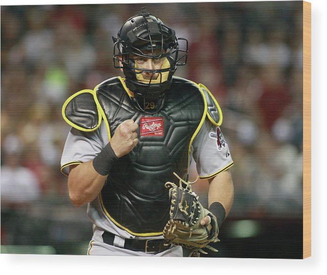Baseball Catcher Wood Print featuring the photograph Francisco Cervelli by Ralph Freso