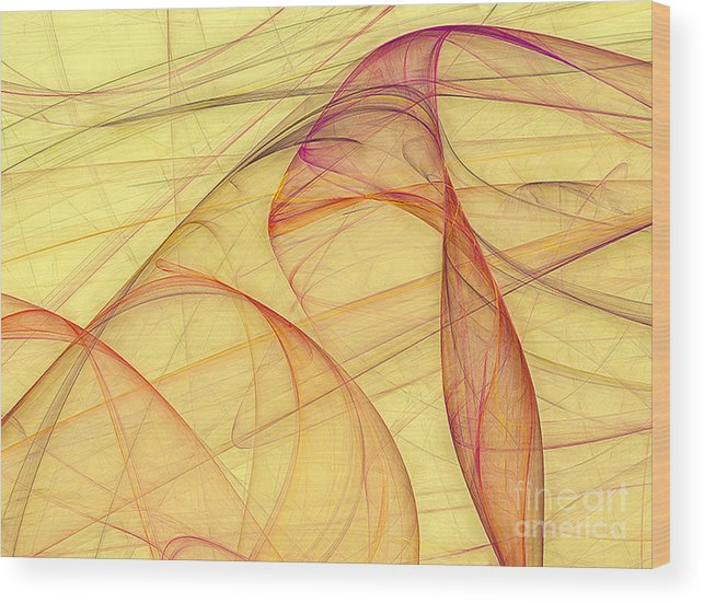 Color Wood Print featuring the digital art Elegant Abstract Background by Odon Czintos