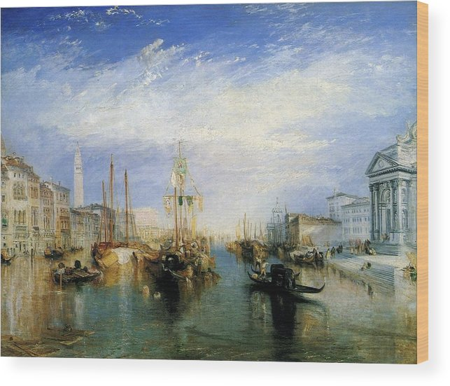 1835 Wood Print featuring the painting The Grand Canal by JMW Turner