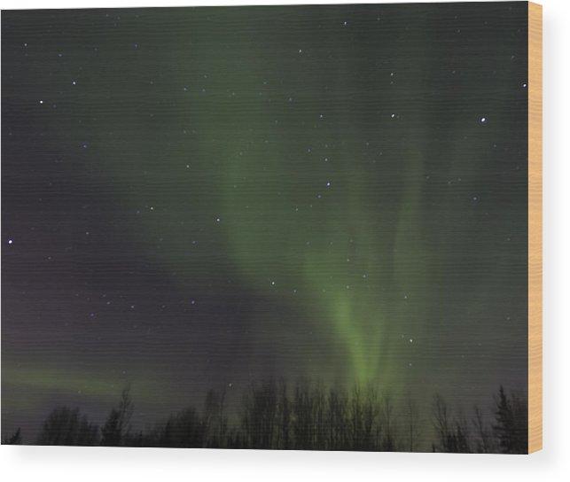 Alberta Wood Print featuring the photograph Aurora Borealis 9486 by Karen Celella