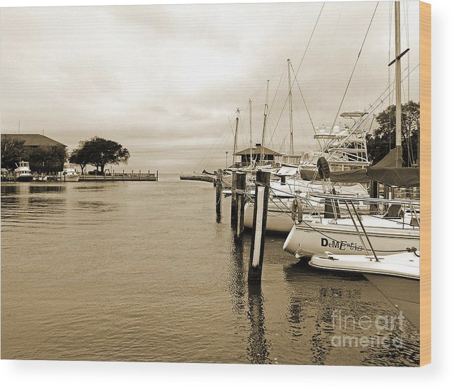 Landscapes Wood Print featuring the photograph Fishing Boats by Earl Johnson