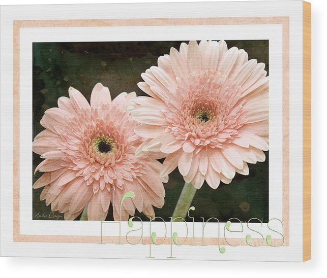 Gerber Wood Print featuring the photograph Gerber Daisy Happiness 5 by Andee Design