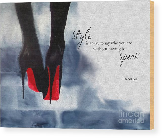 Christian Louboutin Wood Print featuring the mixed media My Style by My Inspiration