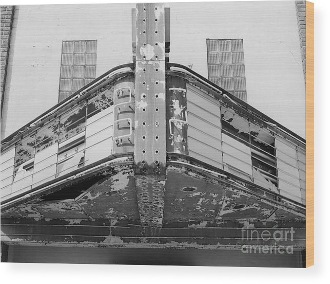 Architecture Wood Print featuring the photograph Old Marquee by Randy W Riddle