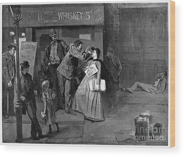 1894 Wood Print featuring the photograph Salvation Army In Slums by Granger