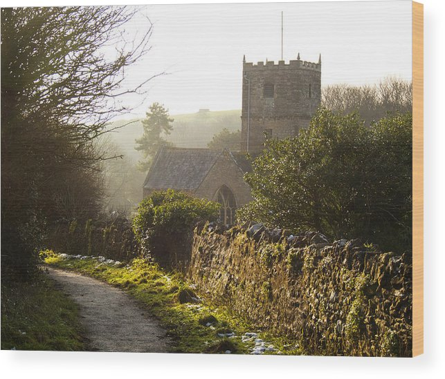 St Andrew's Church Wood Print featuring the photograph St Andrew's Church Clevedon by Rachel Down