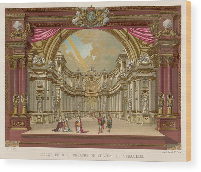 Versailles Wood Print featuring the drawing Stage-set Designs For Productions by Mary Evans Picture Library
