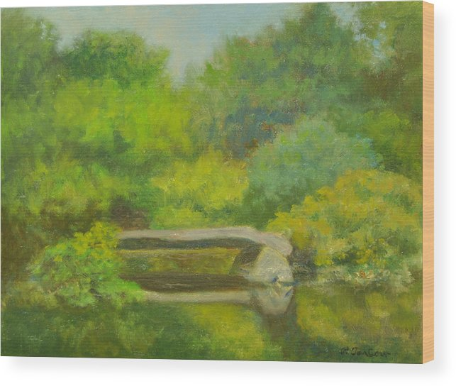 Landscape Wood Print featuring the painting The Greens Of Summer by Phyllis Tarlow