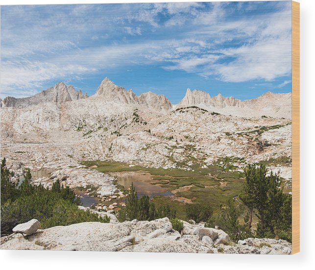 Beauty In Nature Wood Print featuring the photograph The Tall Peaks Of Granite Park by Josh Miller Photography