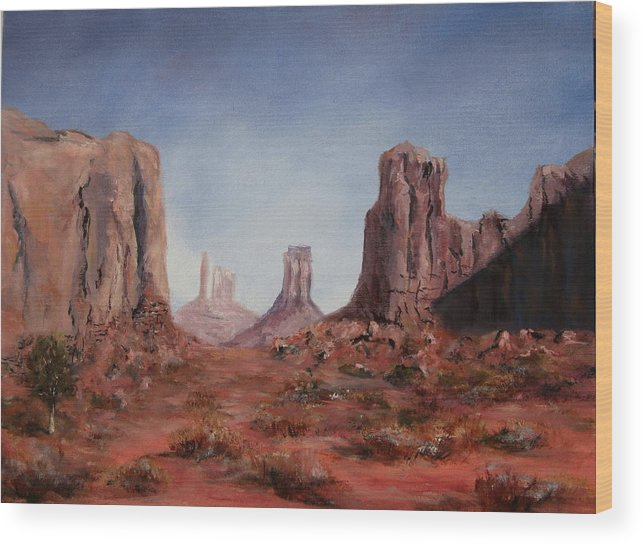 Arizona Wood Print featuring the painting The Window by Thomas Restifo