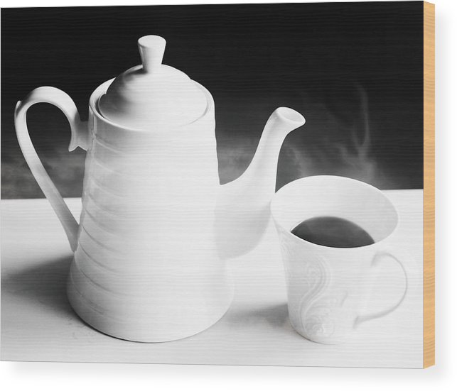 Tea Wood Print featuring the photograph Time For Tea by Anne Costello