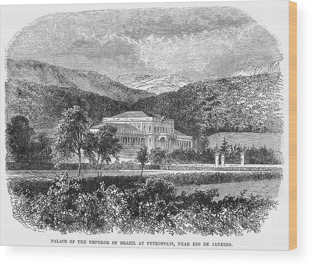 19th Century Wood Print featuring the photograph Brazil: Emperors Palace by Granger