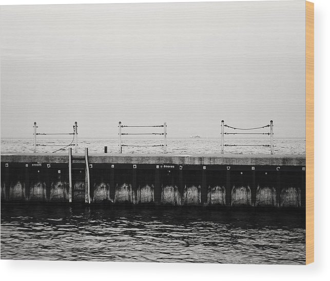 Chicago Wood Print featuring the photograph Diversey Harbor by Laura Kinker