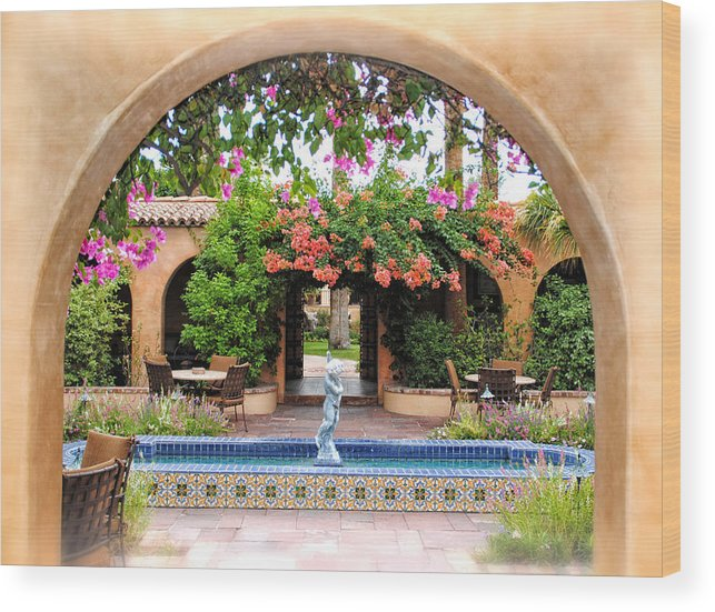 Patio Wood Print featuring the photograph From Here To Beyond by Diane Wood