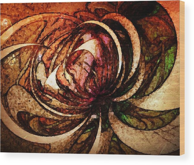 Digital Art Wood Print featuring the digital art Joy In Sepia by Amanda Moore