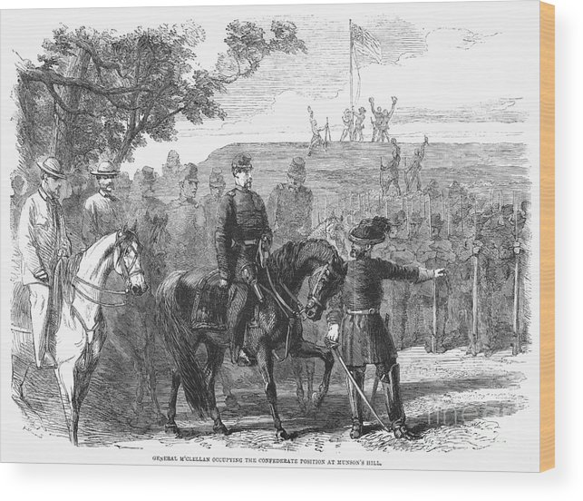 1861 Wood Print featuring the photograph Munsons Hill, 1861 by Granger