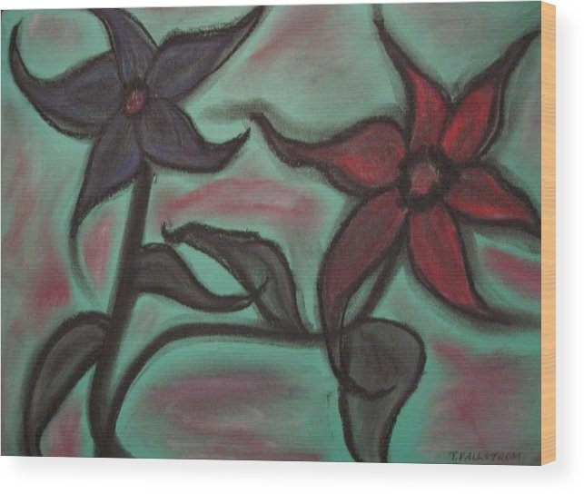 Abstract Wood Print featuring the pastel Petal Me Softly Darling by Tracy Fallstrom