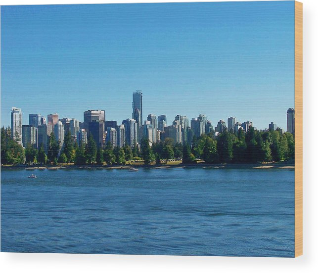 Vancouver Wood Print featuring the photograph Vancouver Skyline by Judy Wanamaker