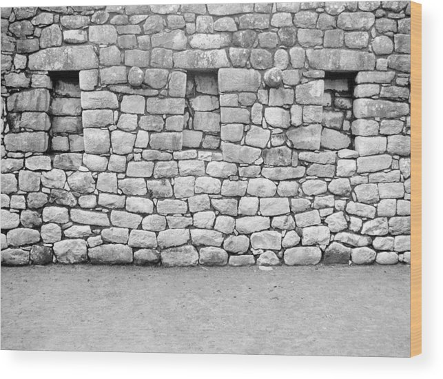 Machu Picchu Wood Print featuring the photograph 3 Windows by Marcus Best
