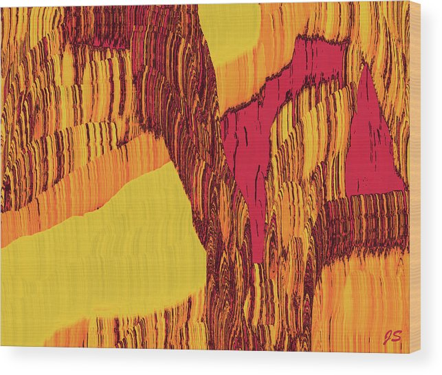 Abstract Wood Print featuring the digital art 4 U 282 by John Saunders