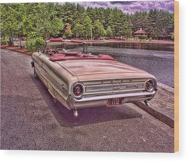 Ford Wood Print featuring the photograph 64 Ford by Paul Godin