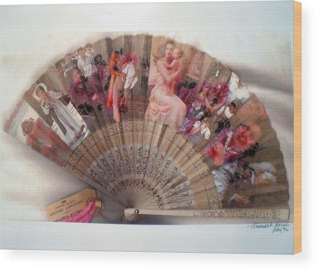 Fan Wood Print featuring the digital art A Womans World by Tammera Malicki-Wong